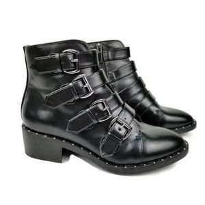 A New Day Nikko Faux Leather Combat Boots